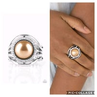 Pampered in Pearls brown ring  Gaithersburg