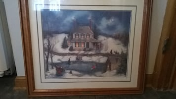 "Fine Art Print ""Skating on Christmas Eve"""