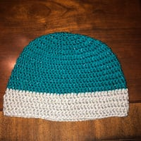 Blue & Gray Crochet Hat  Lyndhurst, 44124