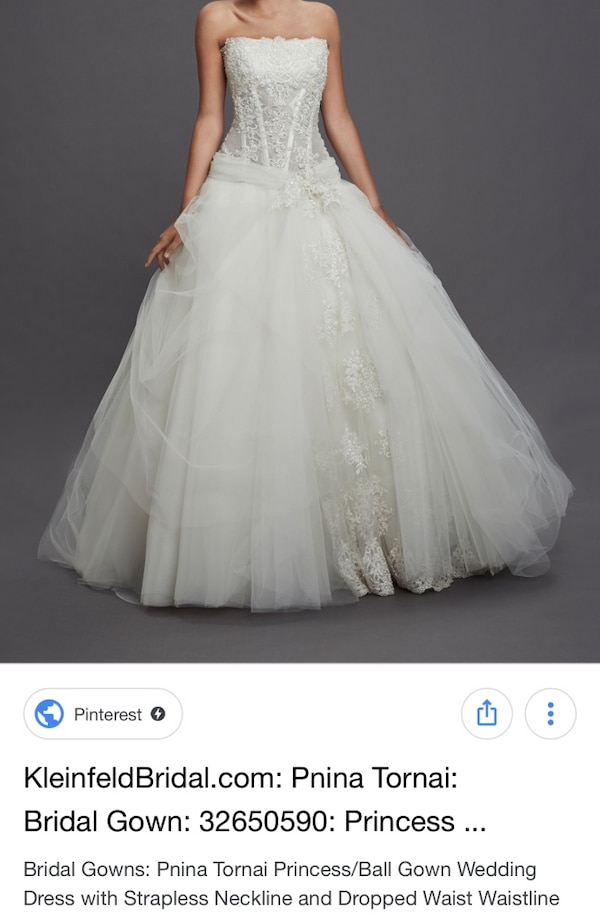 6ae37306220a Used Wedding dress - Pnina Tornai ball gown for in Mississauga - letgo
