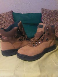 pair of brown-and-black work boots Hurst, 76053