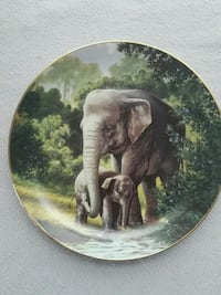 Bradford Exchange Asian elephant plate Sterling, 20165