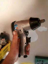 grey and black air impact wrench