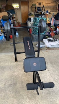 Marcy club weight bench with weights