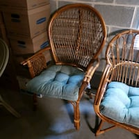2 Wicker Chairs with Cushions  Lancaster, 17601