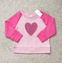 Babygap pink heart sweatshirt size 18-24m- new with tags