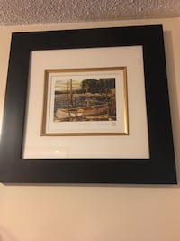 brown wooden framed painting of house Kawartha Lakes, K0L 2W0