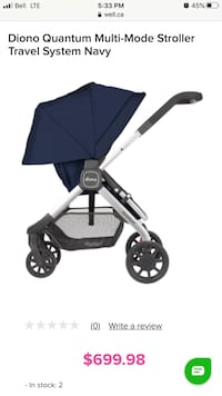 New in box Diono Quantum Stroller Black