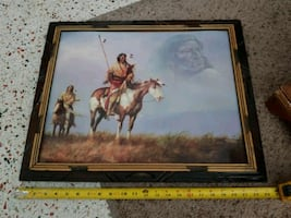 Indian photo in frame