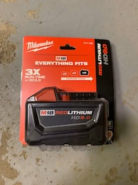 Milwaukee M18 9.0ah bettery Toronto, M4M 2N4