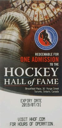 Hockey Hall Of Fame Tickets Niagara Falls