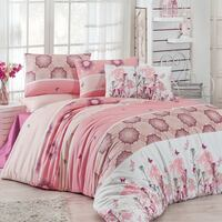 white and pink floral bed sheet set London