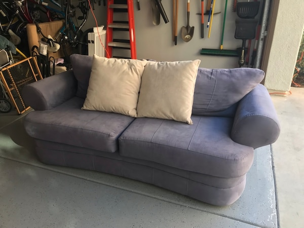 Used Blue microfiber sofa for sale in Huntington Beach - letgo