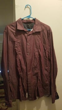 brown collared button-up long-sleeved shirt Austin, 78754