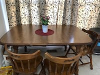 brown wooden dining table set RESTON