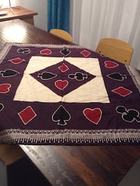Card games tables cloth and napkins set