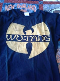 blue and white wu-tang crew neck shirt Goffstown, 03045