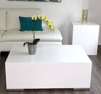 BRAND NEW> Modern White Coffee Table + Side Table.  Toronto