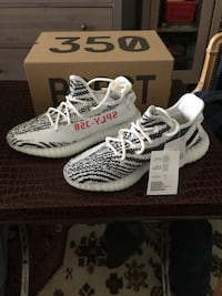 Brand New Yeezy Boost Zebra (white/cblack/red) Size US 7.5  Adidas Yeezy Boost V2 Zebra brand new with tag , box and receipt. BNIB, DS,   Size US 7.5  Offered for only $420  I also have a size 13 pair available for sale  *No trades are possible * Toronto, M5P 2V5