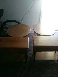two brown wooden table lamps Wichita, 67211