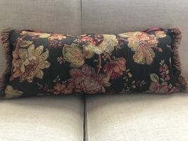 Accent Pillow: Red, gold, green and brown - $20