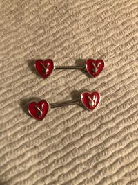 """Official Playboy Bunny Nipple Piercing Barbell Body Jewelry 14g 9/16"""" Decatur"""