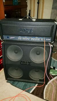 Crate excalibur head w 4x12 guitar amplifier Sterling