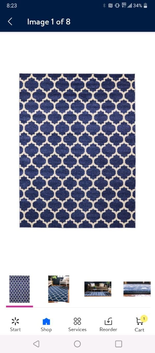 Area rug 9x12 New 1