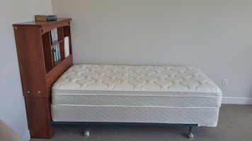 Moving Sale! single bed frame, mattress, box