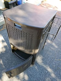 Suncast Wicker Patio Cooler Cart with Cabinet   Chesapeake, 23320