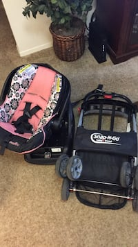 Infant car seat and snap-n-Go stroller