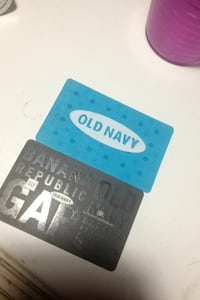 Two blue and gray old navy gift cards 25 on each Maple Ridge, V4R 1J7