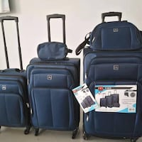 5pcs Navy Softcover Luggage Suitcases  Toronto, M2N 3B1
