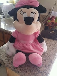 pink and white Minnie Mouse plush toy. Hayward