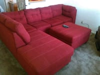 red fabric sectional sofa with ottoman Tucson, 85710