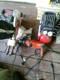 Table saw air compressor impact drill Edgewood, 21040