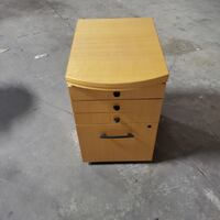 4 Drawer Wooden Filing Cabinet