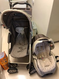 baby's gray and black travel system 檀香山, 96818