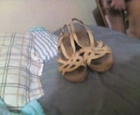 pair of white-and-brown sandals Blountsville, 35031