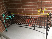 Wrought iron bench. Great condition. Dimensions in picture. No cushion.  Oakville, L6H 3J9