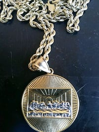 """(real)24"""" 10k gold chain and 14k gold madellion Stockton, 95205"""