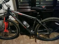 black and red hardtail mountain bike