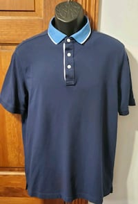 Nordstrom Solid Navy Blue Polo Shirt  Middletown, 21769
