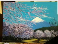 Mt Fuji, Japan 24x18 inches  painting