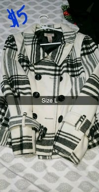 white and black plaid button-up jacket Mission, 78573