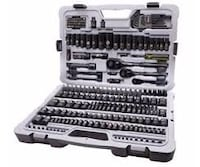 Stanley black chrome socket set over 100 pieces gently used