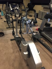 silver and black elliptical trainer