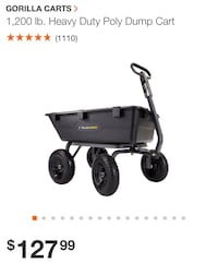 Heavy duty dump cart