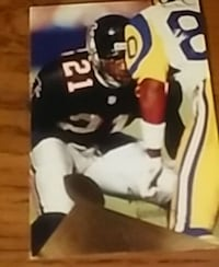 Deion Prime Time Sanders Atlanta Falcons card Washington