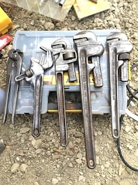 4 Pipe Wrenches & 1 pair of wire cutters Santa Barbara, 93105